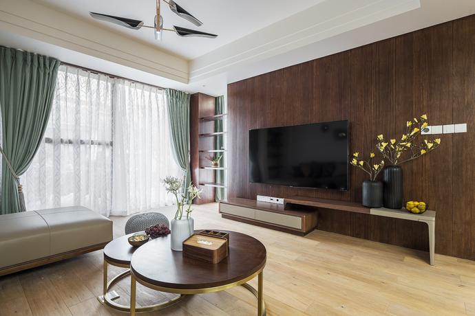 天津鹤立装修——140平现代中式风格家装案例参考