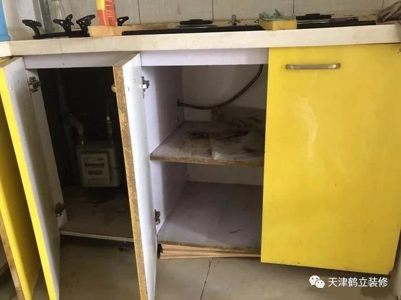 天津鹤立装修尖刀产品——砖夹厨柜