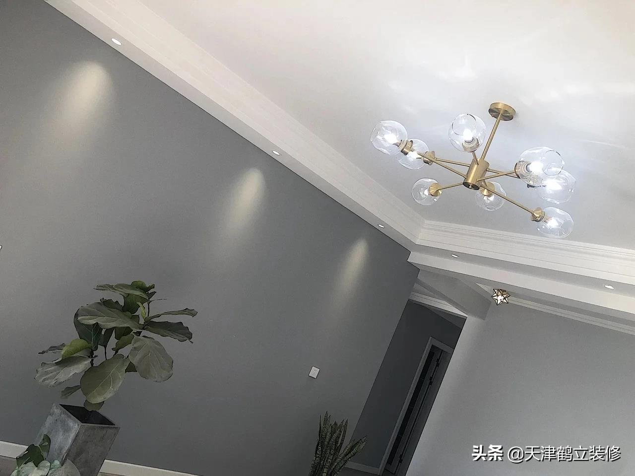 天津鹤立装修——北欧时尚新房硬装完毕,高级灰的高级搭配
