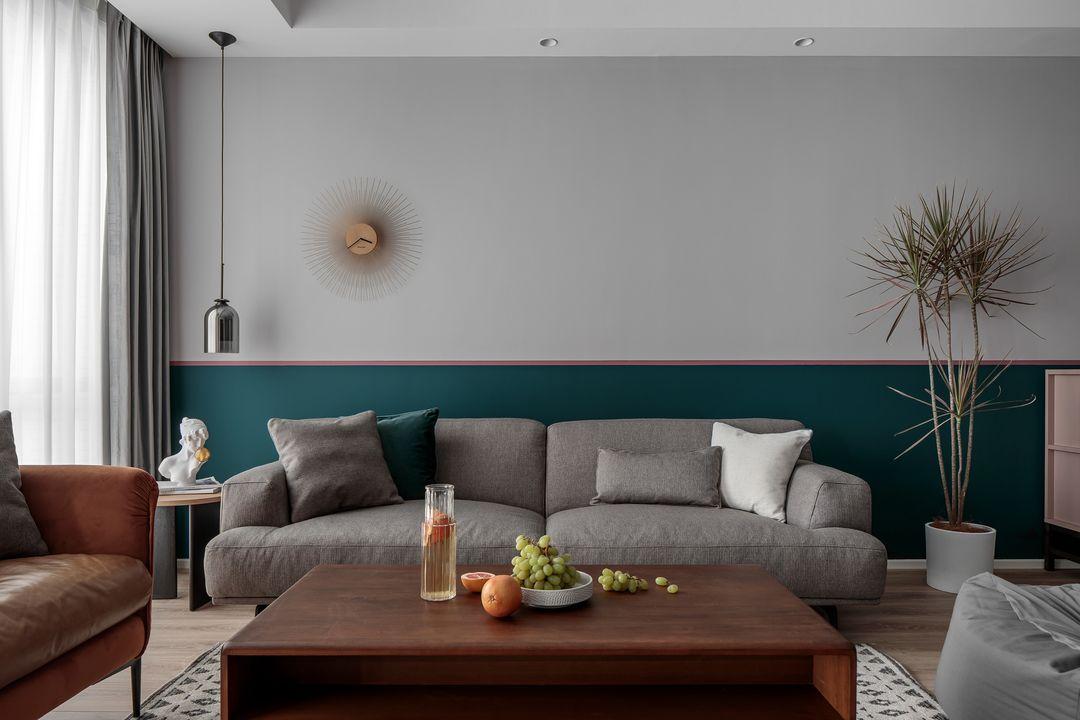 天津鹤立装修案例参考——120平三居室充满艺术和生活气息的新房